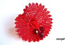 zawieszka kwiat czerwona