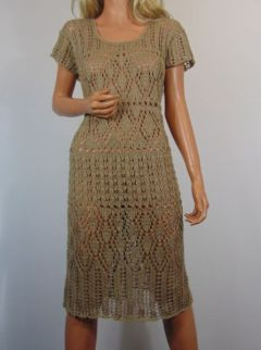 6c6db1c621 Lniane ażury sukienka