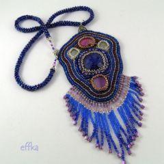 naszyjnik haft koralikowy wisior etniczny