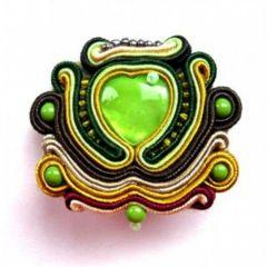 broszka zielona sutasz