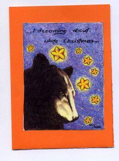 kartka r�cznie robiona z autorskim nadrukiem