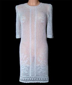 6853bcda37 Sukienka kratka- białe róże